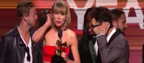 Taylor Swift alla premiazione dei Grammy Awards