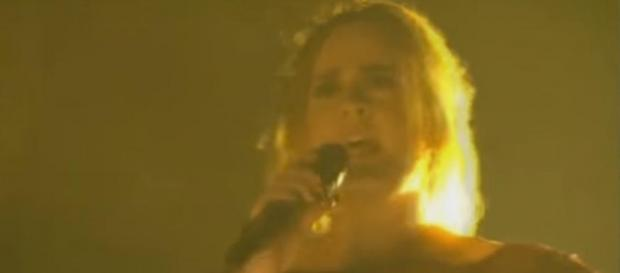 Adele durante la serata di ieri