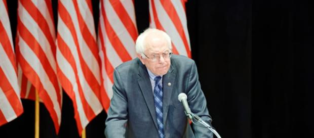 Bernie Sanders at a campaign event. (CC BY-SA 2.0)