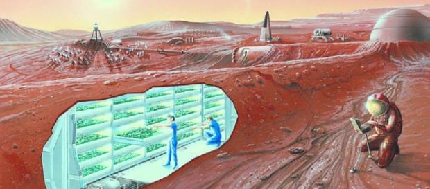 Concept of a Mars colony (Credit NASA)
