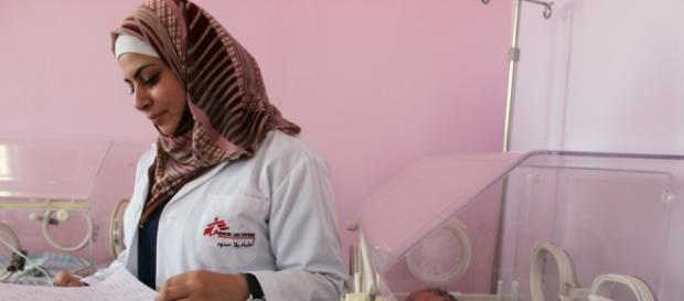 Operatrice sanitaria di Medici senza frontiere