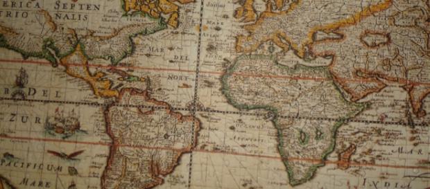 Un puzzle de un Mapa Mundi clásico