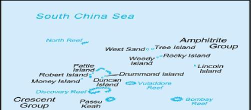 Mapa de la zona en disputa del sureste asiático