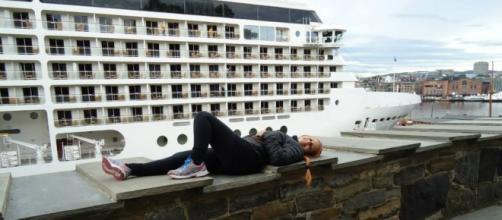 Navio atracado em Oslo - Noruega
