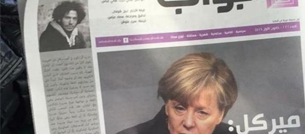 Abwab: Angela Merkel in prima pagina