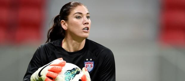 La portera estadounidese Hope Solo (soccer.com).
