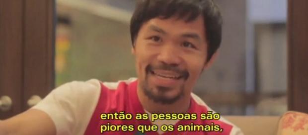O boxeador disse que gays são piores que animais