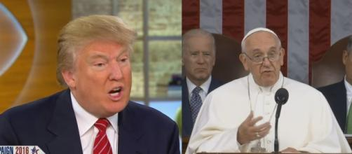 Donald Trump and Pope Francis, via YouTube
