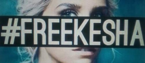 Hashtag pubblicato a favore di Kesha.