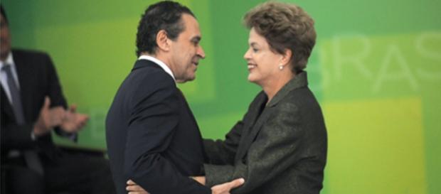 Sr Ministro do Turismo com a presidente Dilma