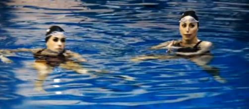 Ona Carbonell y Gemma Mengual en un entrenamiento.