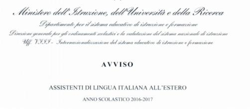 Assistenti di italiano all'estero 2016/17