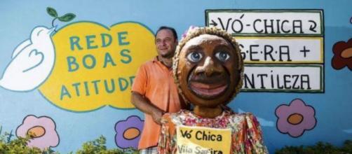 Cláudio e Vó Chica, uma parceria do bem.