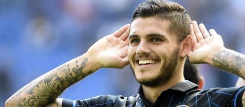 L'attaccante nerazzurro Mauro Icardi