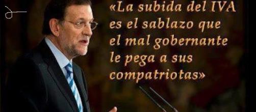 Mariano Rajoy y unas de sus declaraciones.