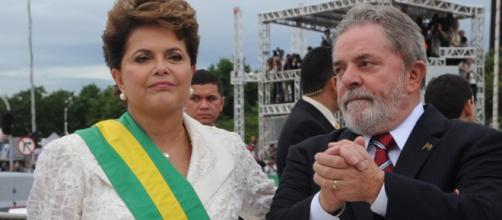 Presidente Dilma Rousseff e ex-presidente Lula.
