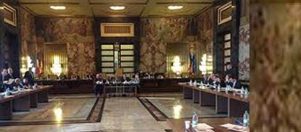 l'aula del consiglio comunale di Salerno