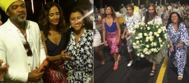 Regina Casé participa de comemoração à Iemanjá