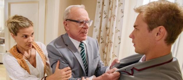 Werner mentre litiga con Norman.
