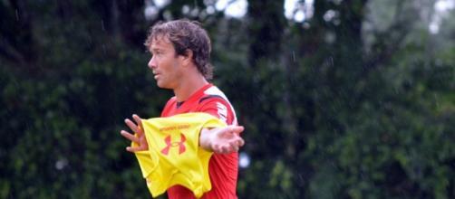 Lugano no treino desta sexta, na Barra Funda
