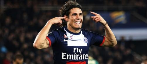 Cavani celebrating, image by 101greatestgoals.com