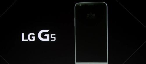 Design frontale del nuovissimo LG G5