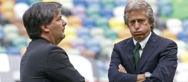 Jesus e Bruno de Carvalho em desacordo
