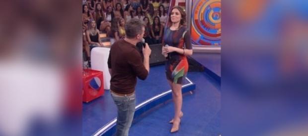 Monica Iozzi faz sucesso também no Caldeirão