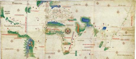 As descobertas portuguesas no final do século XV.
