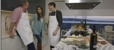 Iker Casillas y Sara Carbonero junto a Bertín