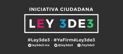 Iniciativa ciudadana #Ley 3de3 #YaFirméLey3de3