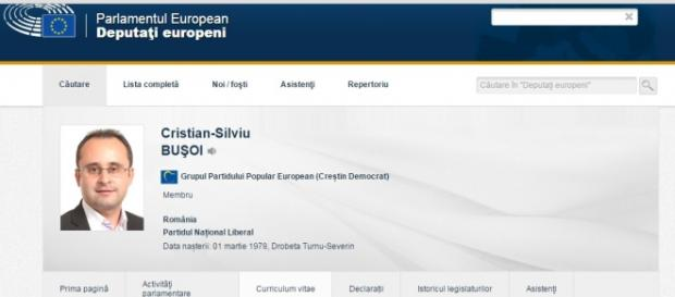 Cristian Buşoi print screen europarl.eu