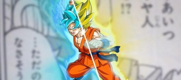 Goku con las dos transformaciones en cuestion