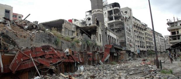 La città di Homs ridotta ad un cumulo di macerie