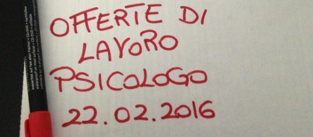 Offerte di lavoro per Psicologi a Milano, Varese e Padova al 22 febbraio