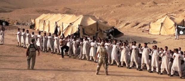 Uno dei campi di addestramento dell'Isis