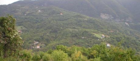 vista panoramica sui monti liguri