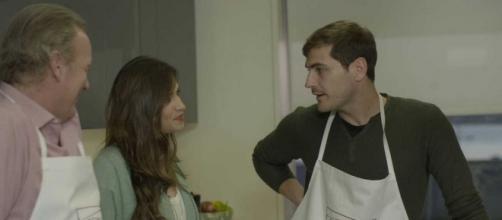 Bertín Osborne, Sara Carbonero e Iker Casillas.