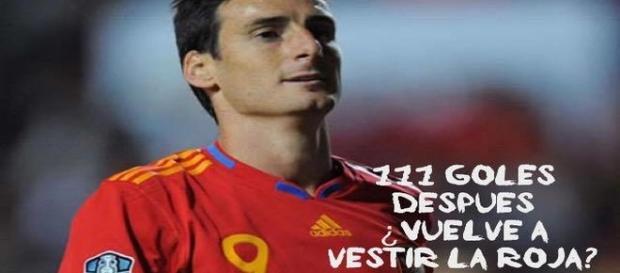 Aritz Aduriz con la Selección española