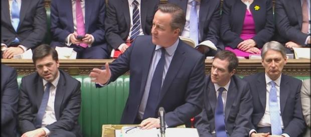 David Cameron today in parliament (YouTube)
