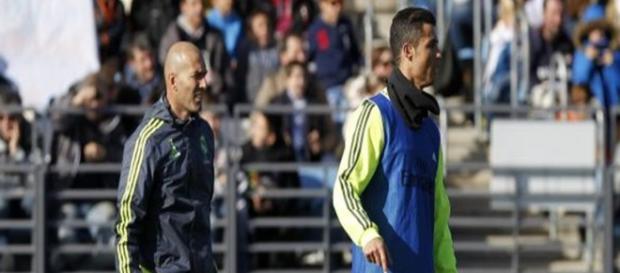Zinedine Zidane y Cristiano Ronaldo.