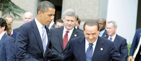 Berlusconi con il presidente americano Obama