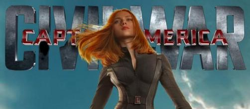 Scarlett Johansson como Black Widow en 'Civil War'