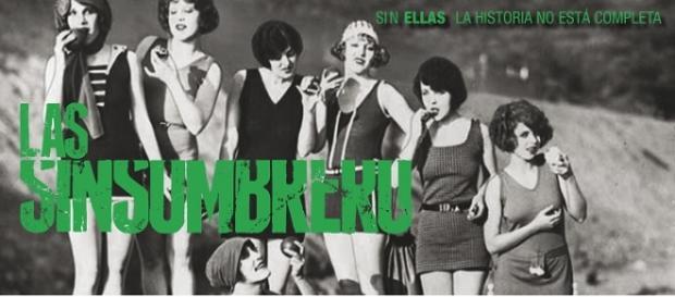 Cartel de 'Las Sinsombrero' con foto de la época.