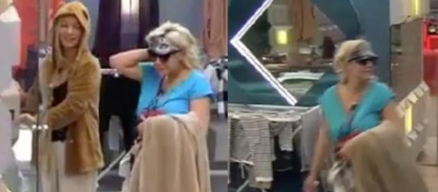 Charlotte y Belén gastando la broma a Carlos