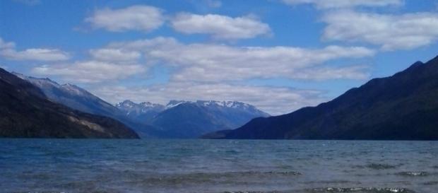 El bello paisaje de Lago Puelo