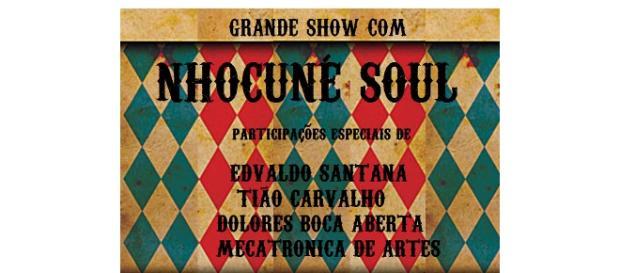 Flyer de divulgação da Banda Nhocuné Soul