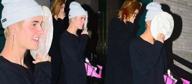 Justin Bieber tentou ao máximo esconder a cara