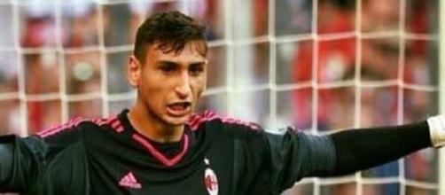 Gigi Donnarumma difende la porta del Milan