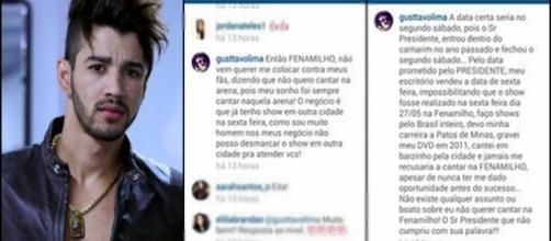 Gusttavo Lima foi substituído por Luan Santana